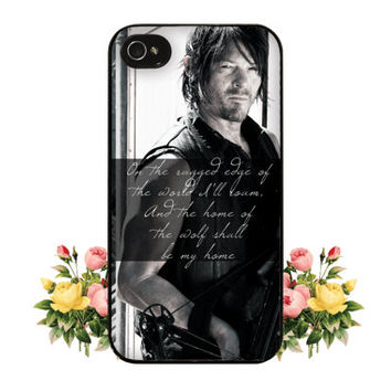 Daryl Dixon iPhone Case The Walking Dead iPhone Case Norman Reedus iPhone 6 Case iPhone 6 Plus Daryl Dixon iPhone 5 Case iPhone 5C Dixon
