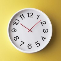 White Clock with Numbers