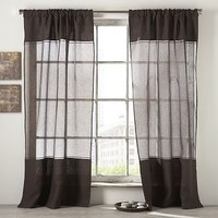 Tonal Linen Sheer Window Panel