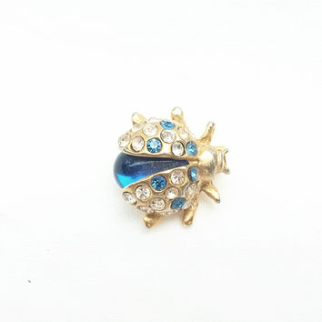 Brooch - Combination of Swarovski Crystal Ladybug