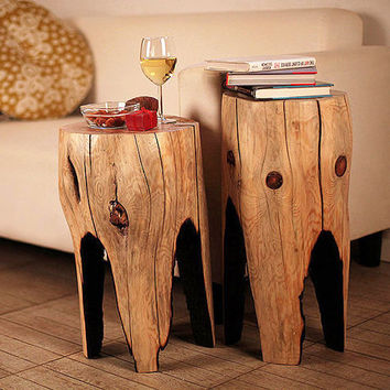Reclaimed Wood Coffee Table, Wooden Furniture, Tree Stump Table, Rustic Table, Wood Table, Living Room Table, Small Table, Night Table