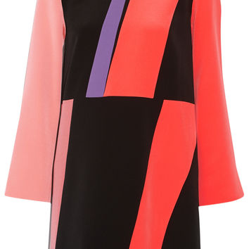 Roksanda - Color-block silk crepe de chine mini dress