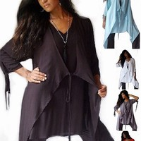Beautiful Tie Front Lagenlook Chic Layering Blouse