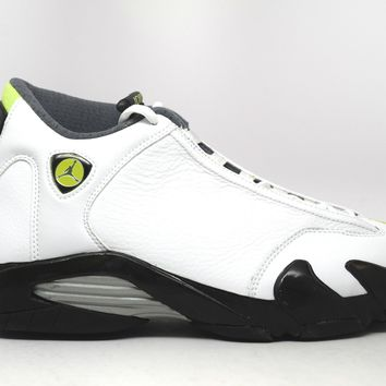 KUYOU Air Jordan 14 Retro White Chartreuse