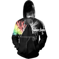 Abstract Prism Zip Up Hoodie