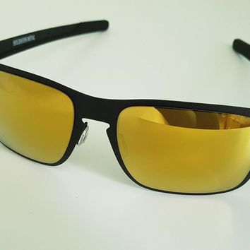 Oakley Holbrook Metal Sunglasses OO4123-1355 Matte Black/24k Iridium NEW