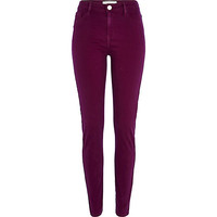 Dark red Molly jeggings - jeggings - jeans - women