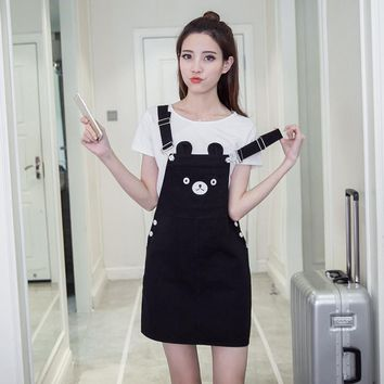 Kawaii Bear Ears Overall Dress