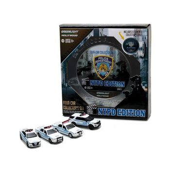 Hollywood Film Reels Series 5, 4pc Set NYPD Behind the Scenes Movie 1/64 Diecast Model Cars  by Greenlight