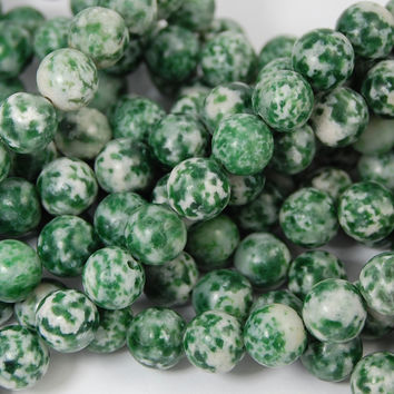 Tree Agate Round 8mm -16 inch strand