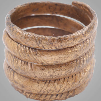 Ancient  Viking Mans Coil Wedding Ring C.866-1067A.D. Size 10  (20.1mm) (BRR813) Antique Vintage Band