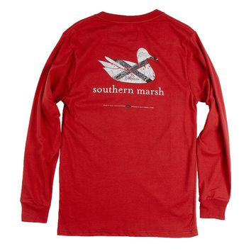 Authentic Alabama Heritage Long Sleeve Tee in Crimson by Southern Marsh