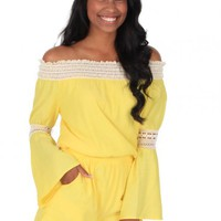 She'd Be California Romper in Yellow | Monday Dress Boutique