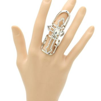 Layered Cross Armour Knuckle Ring 137