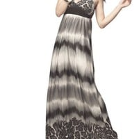 TopTie Leopard Print Halter Maxi Dress, White-Grey-Black Tone