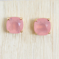 Baby Pink Stud Earrings