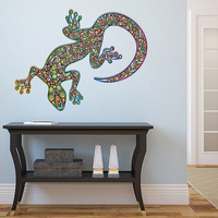 "Psychedelic Gecko Vinyl Wall Decal Graphics 47"" x 50"" Bedroom Home Decor"