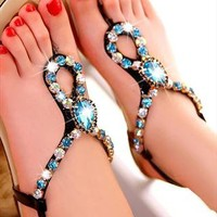Fashion Romantic Bohemia Style Rhinestone Sandals from styleonline