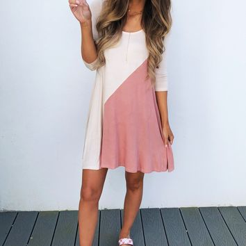Something About Her Dress: Sand/Blush