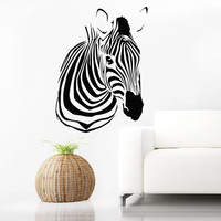 Wall Decals Zebra Animals Jungle Safari African Childrens Decor Kids Vinyl Sticker Wall Decal Nursery Bedroom Murals Playroom Art SV6123