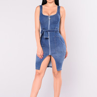 Tabitha Denim Dress - Medium