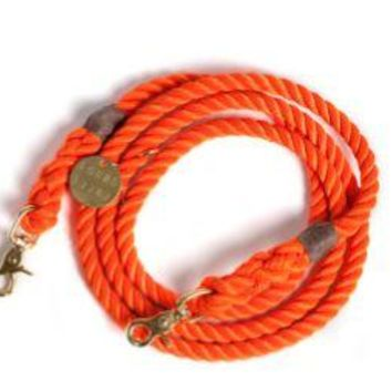 SYNTHETIC ROPE DOG LEASH, ADJUSTABLE by Found My Animal at Baysidebuddy.com  ( MORE COLORS )