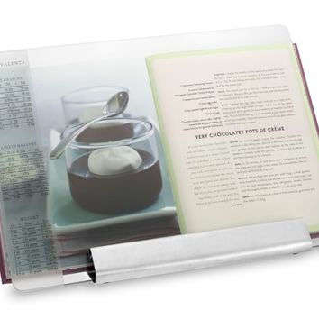 Glass & Stainless-Steel Cookbook Holder