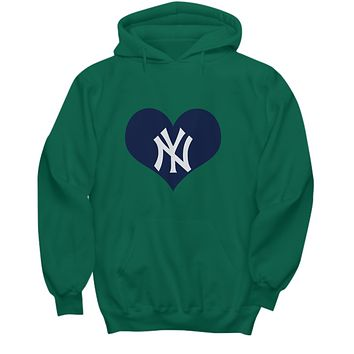 New York Baseball Heart Lover Bx Bomber Baseball Hoodie