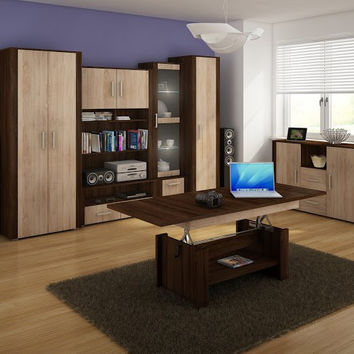 "Modern Living Room Furniture Set 2 ""Notti"" TV Stand , Display Cabinets, Wardrobe"