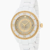 Kate Spade Pave Enamel Seaport Grand Watch Neutral Multi ONE