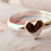 Heart Stacking Ring Valentine's Day Gift by PrettyThingsGalore