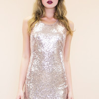 Hollin Sleeveless Sequin Bodycon Dress