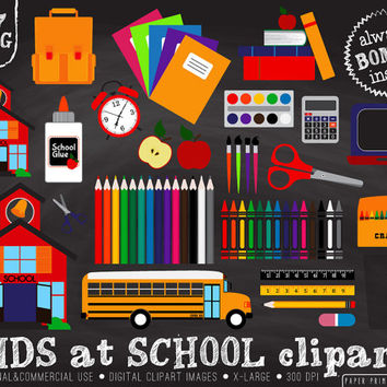 57 PNG Kids at School clipart, school clipart, school, back to school, teacher clipart, school bus, stationary, school supplies, crayons