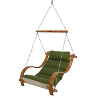 Single-Person Swinging Chair with Oak Arms