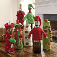 Holiday Wine Bottle Covers | The Company Store