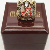 Alabama Crimson Tide Championship Ring With Wooden Box 2015