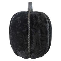Halloween Hand-Wrapped Fabric Pumpkin Large Black - Hyde and Eek! Boutique™