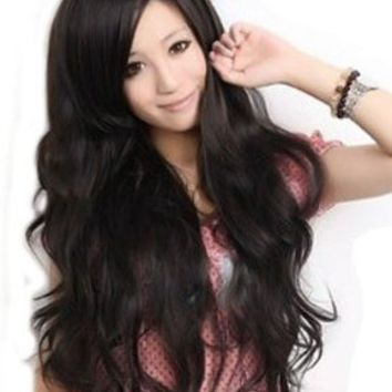Sexy Women's Long Wavy Wig (Model: JF010577) (Black):Amazon:Health & Personal Care
