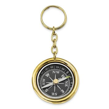 Brass Nautical Compass Key Ring