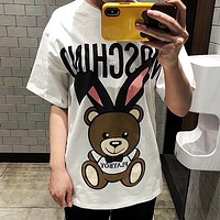 Moschino Hot letters print T-shirt top