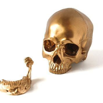 Gold Decorative Skull