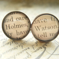 Unique Sherlock Holmes Cufflinks made with real by JonTurner