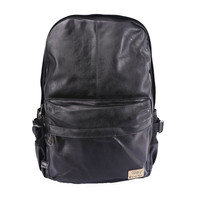 PU Leather Vintage Backpack Men School Sport Male Black Day Back Pack Brown Fashion Leisure