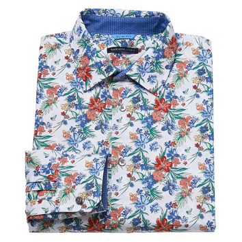 Van Heusen Studio Slim-Fit Floral Button-Down Shirt