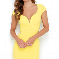Puttin' on the Ritz Yellow Bodycon Dress