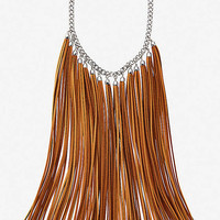 SUEDE FRINGE NECKLACE from EXPRESS