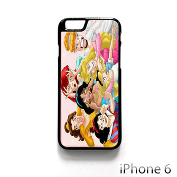 All Disney Princess Cinderella Ariel Alice Belle Jasmine Snow White Funny for Iphone 4/4S Iphone 5/5S/5C Iphone 6/6S/6S Plus/6 Plus Phone case