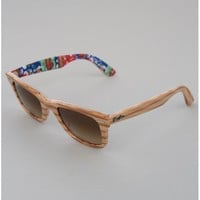Ray-Ban Original Wayfarer Sunglasses - Wood Surfs Up // Brown Gradient