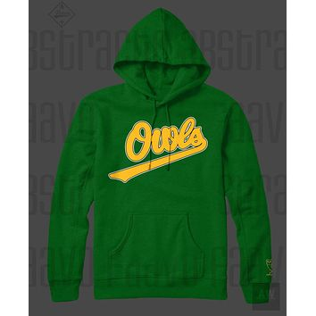 Drake Owls Green Adult Unisex Pullover Hoodie
