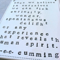 plaque ee cummings quote MADE TO ORDER by mbartstudios on Etsy